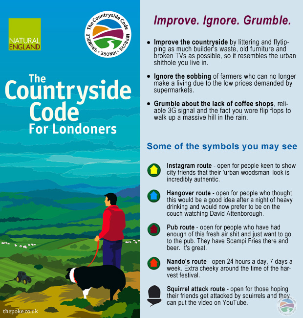 The Countryside Code for Londoners The Poke