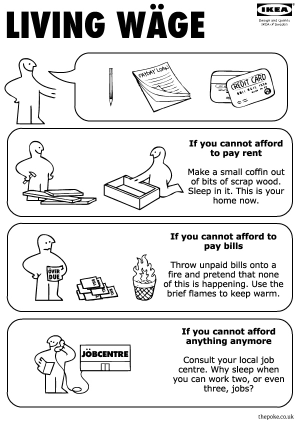 Ikea Instructions For The Living Wage The Poke