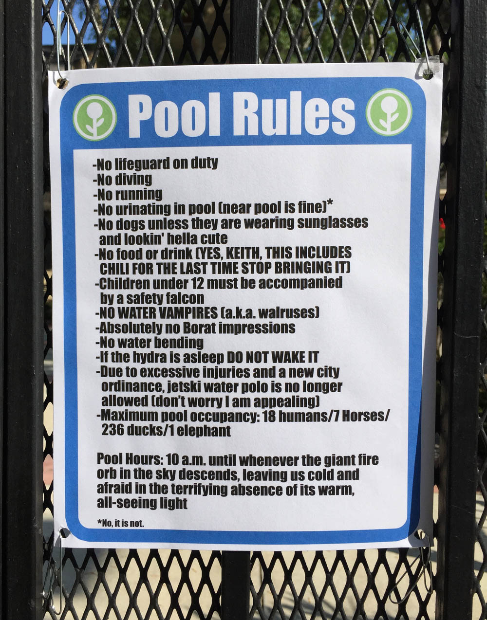 New Swimming Pool Rules The Poke