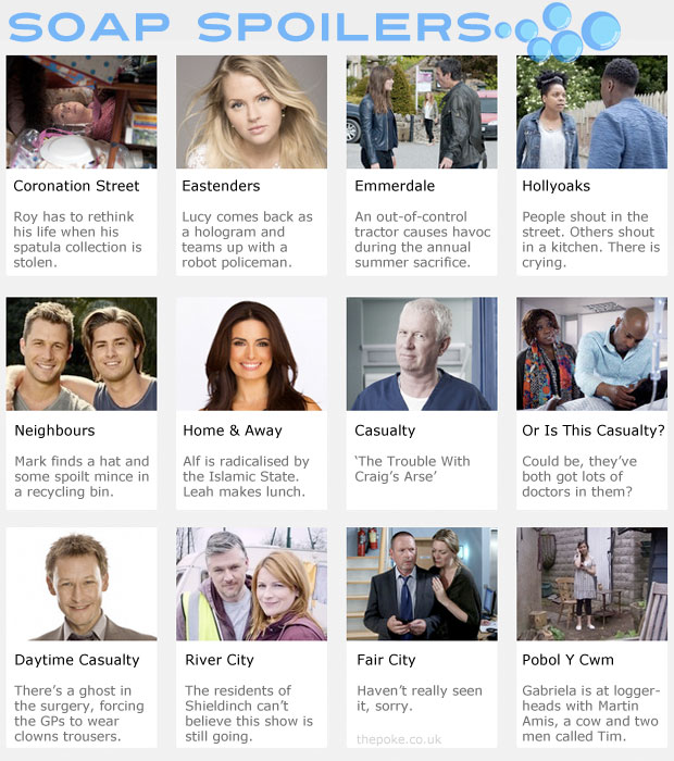 Catch up on all this week's soap spoilers The Poke