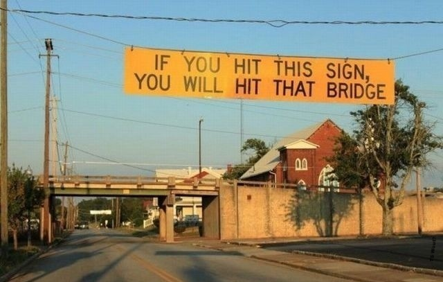 Thoughtful sign