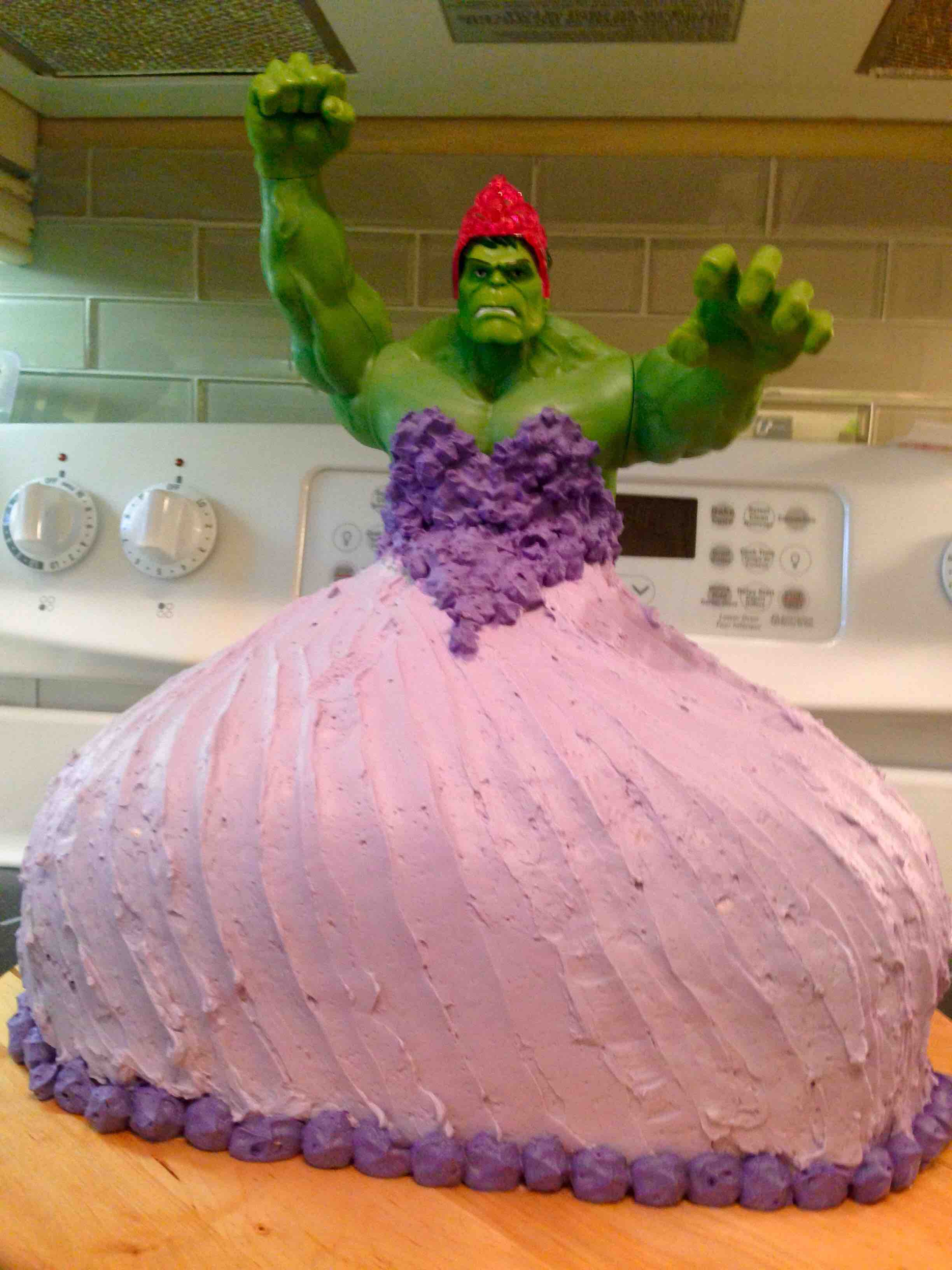 Fine Twin 4 Year Old Girls Ask For A Hulk Princess Birthday Cake Get Personalised Birthday Cards Veneteletsinfo