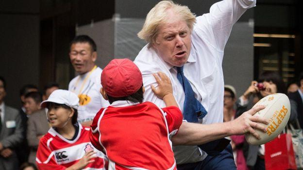Boris Johnson Kid Tackle