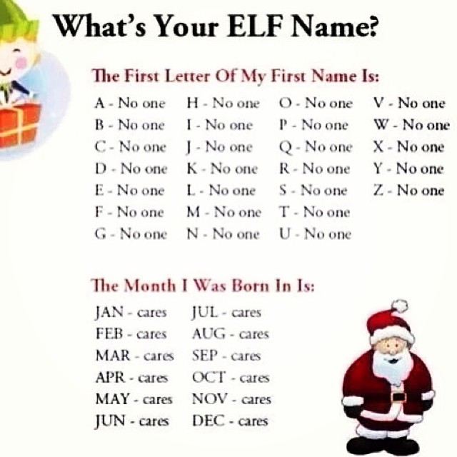 What S Your Elf Name The Poke