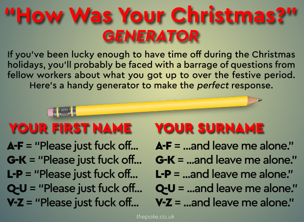 a how was your christmas generator the poke