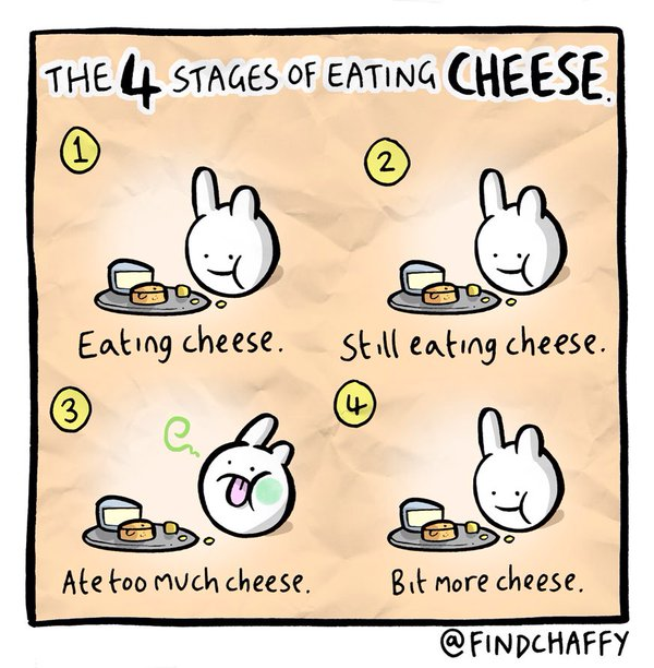 chaffy how to eat cheese