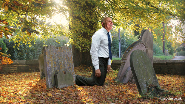 """""""Stressed"""" Iain Duncan Smith found screaming """"fit for work"""" at gravestones"""