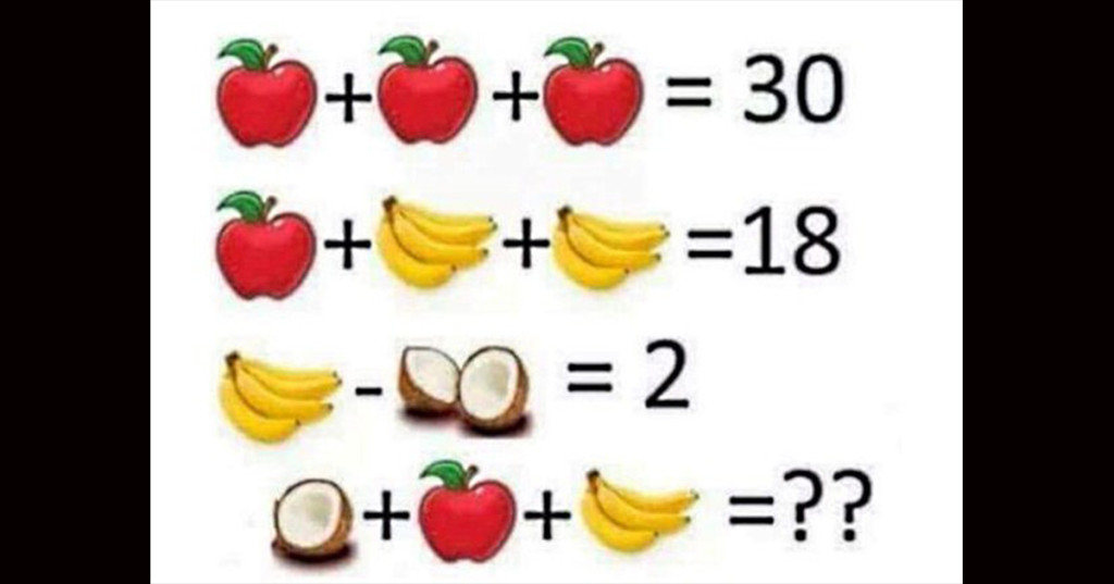 This puzzle has everyone on facebook arguing over the answer so