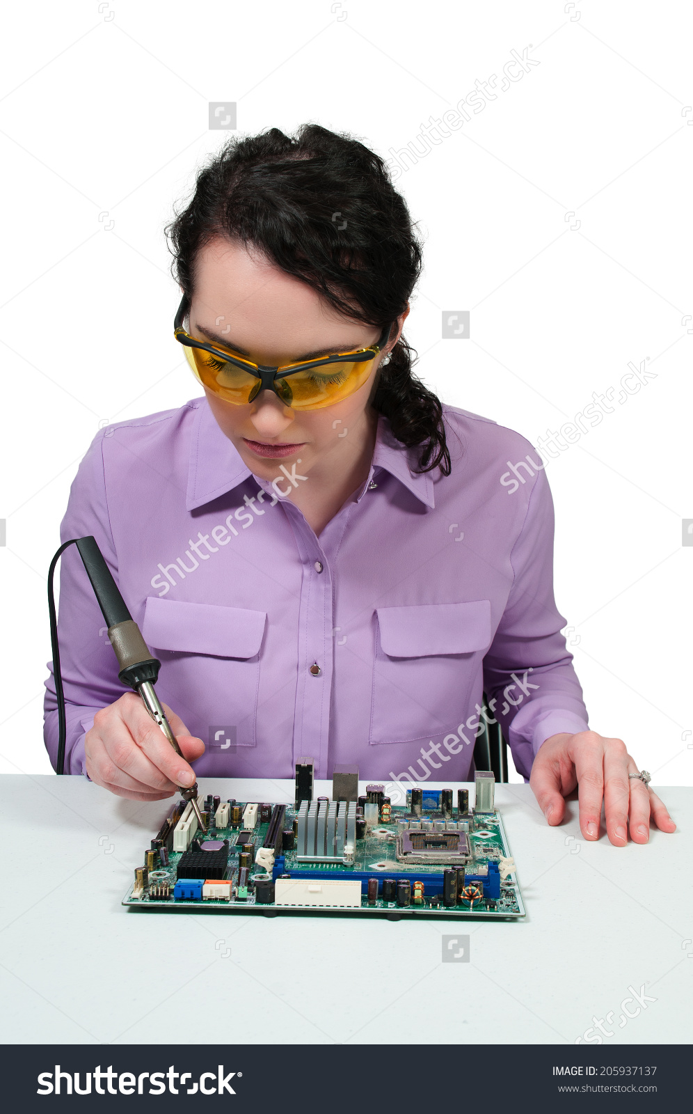 Stock Photo Aletia 164802918: Can You Spot What's Wrong With The Soldering In This Stock