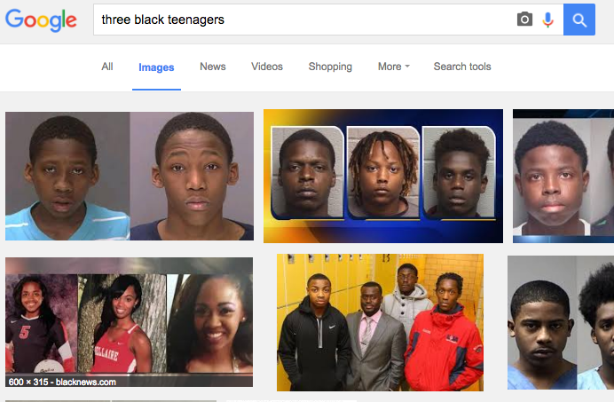 So Searching For Quot Three Black Teenagers Quot Gets Very