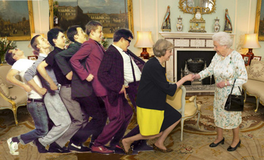 This Photoshop Of Theresa May Meeting The Queen In The
