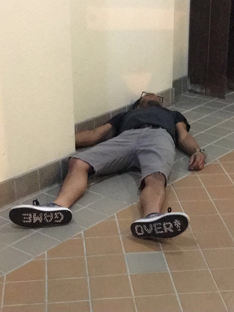Drunk Man Passes Out Wearing Very Appropriate Footwear The Poke