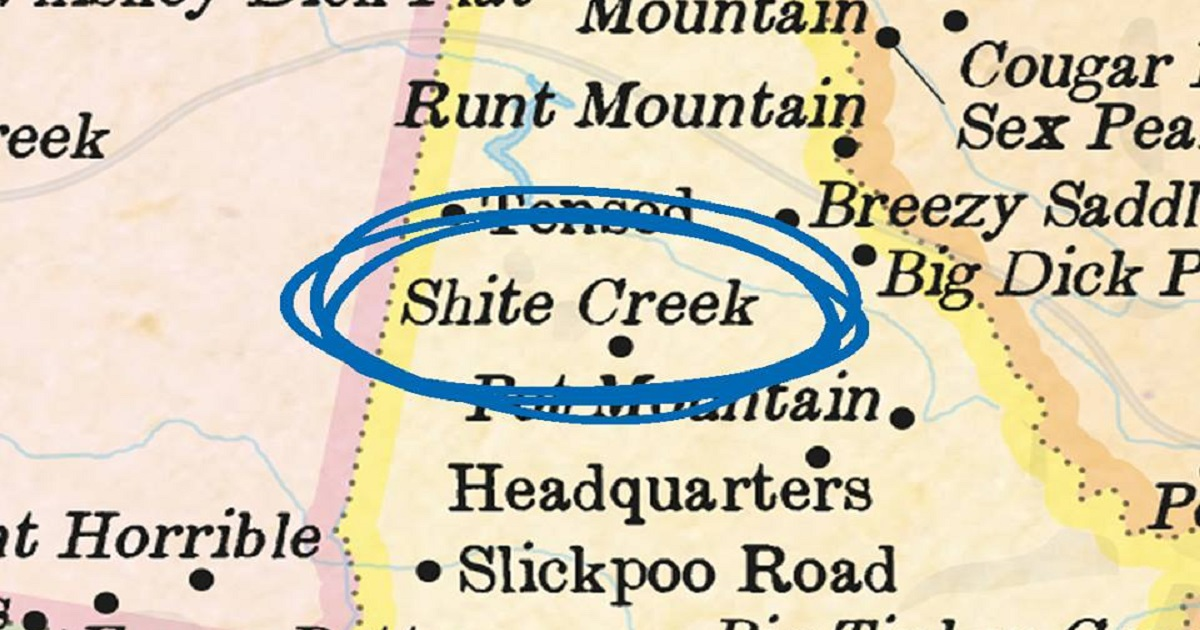 Australia Map Rude Names.These Maps Show The Most Hilarious And Rudest Place Names The Poke