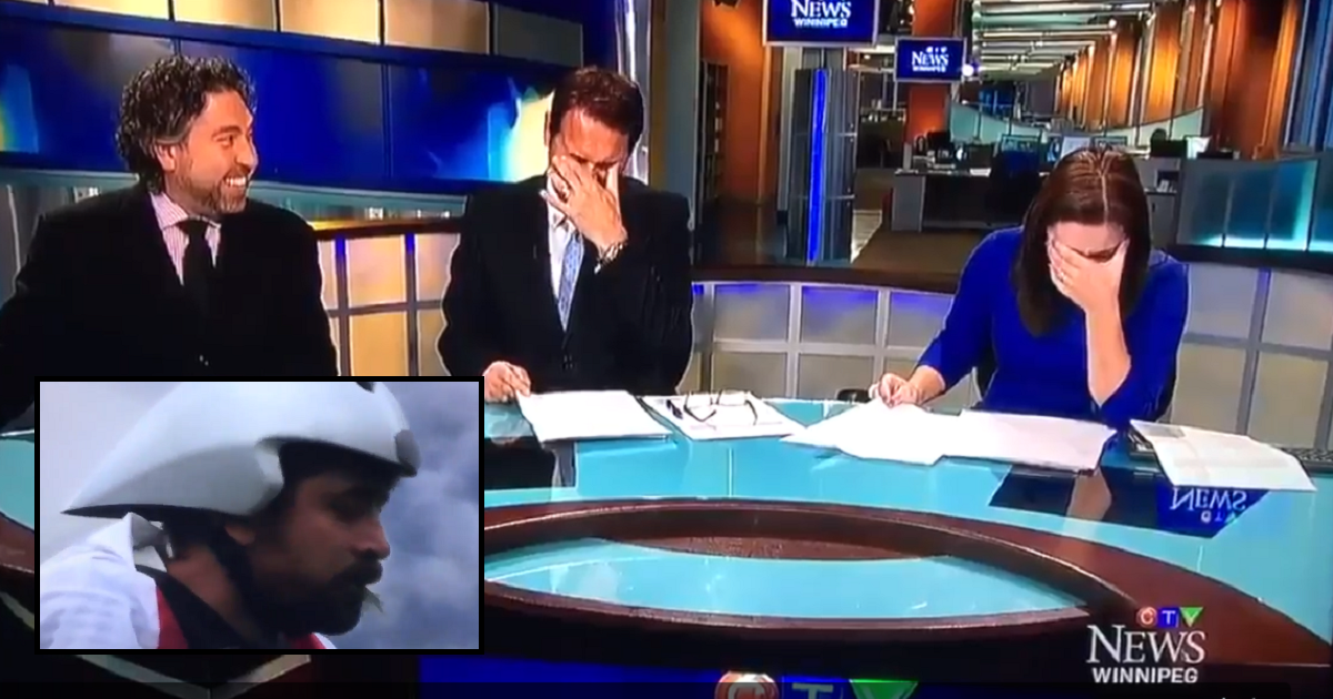 Watch a Canadian news anchor laugh uncontrollably as she struggles to report an odd story