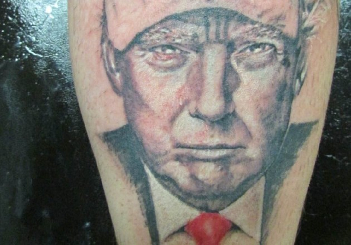 People have been getting donald trump tattoos and we can for People getting tattoos