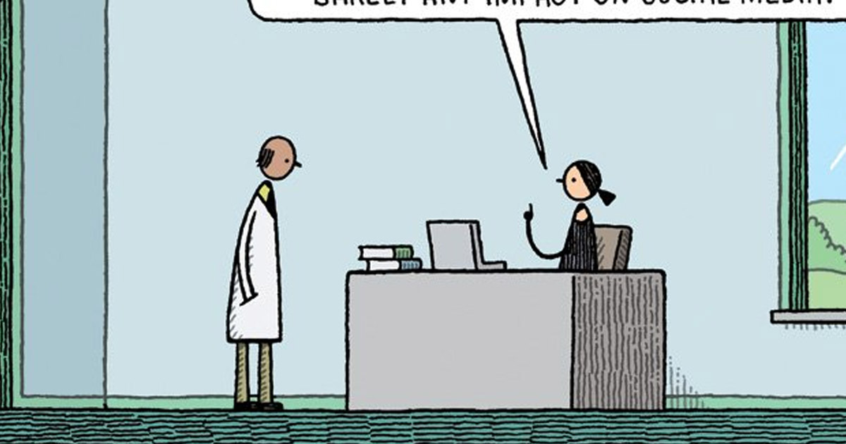 This cartoon in the New Scientist nails everything about our upside ...