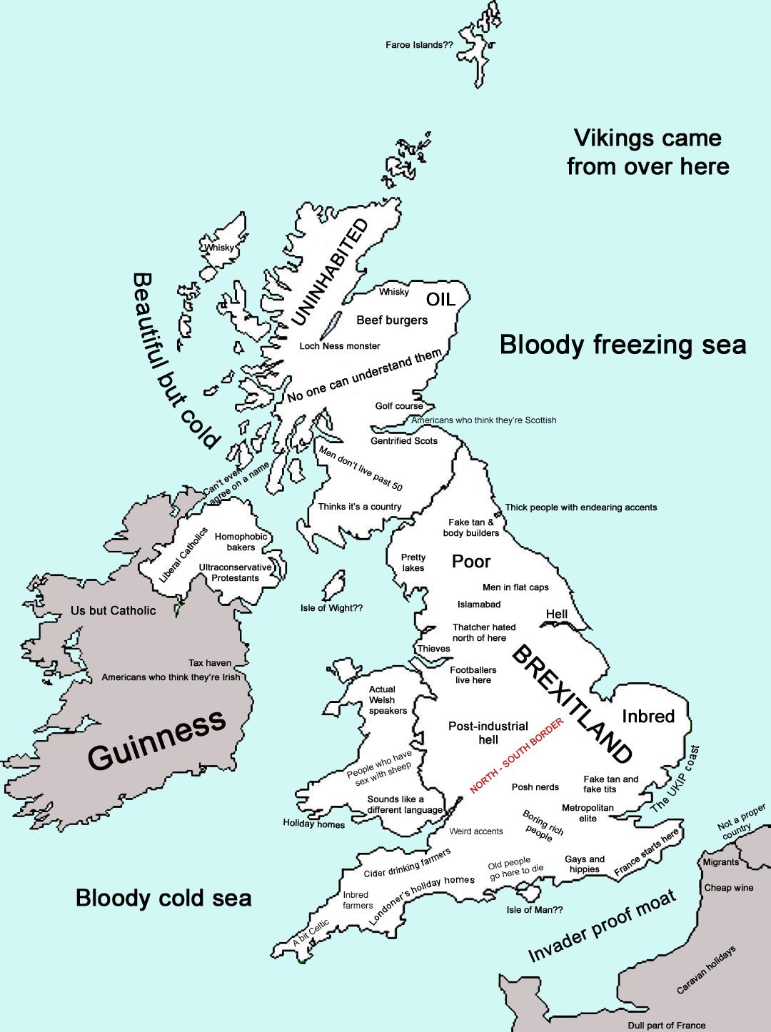 Map Of Uk 2017.This Post Brexit Map Of The Uk Is Both Accurate And Funny The Poke