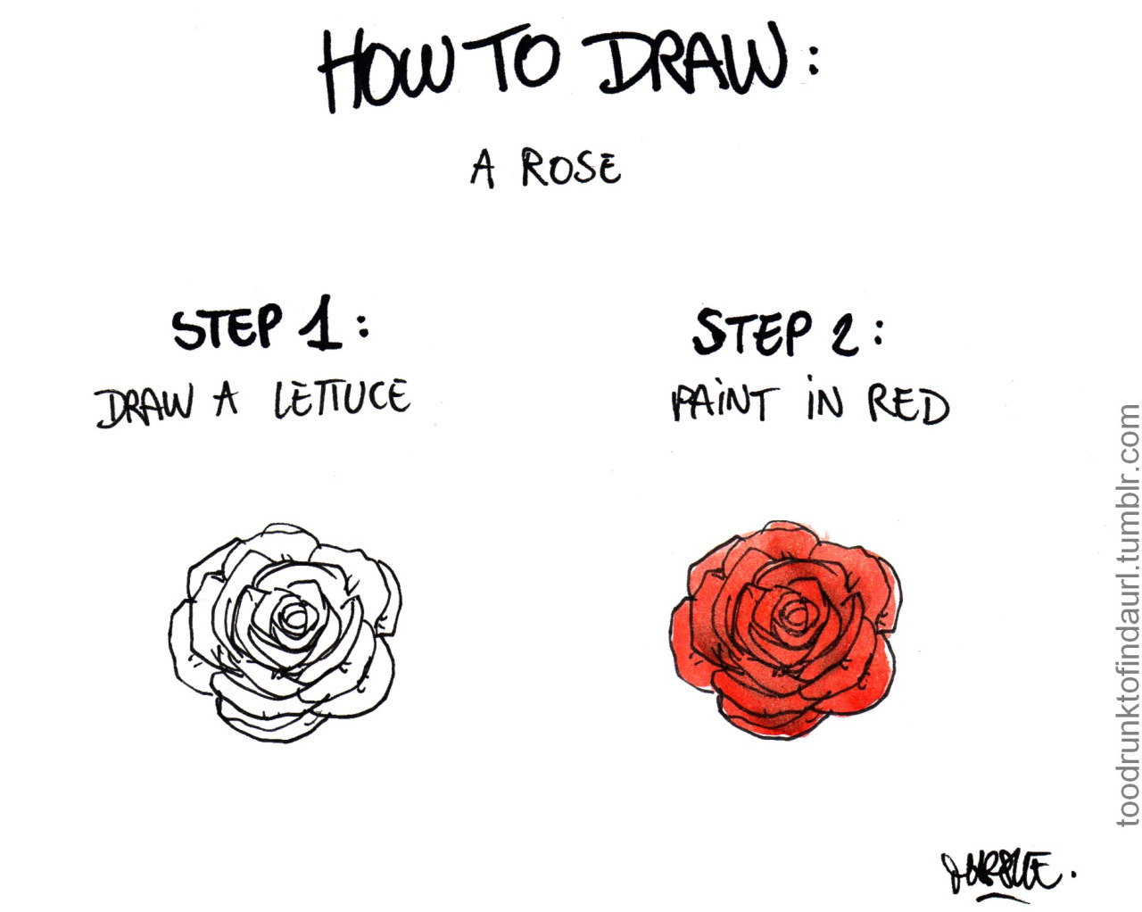 How to draw a rose The Poke - photo#8