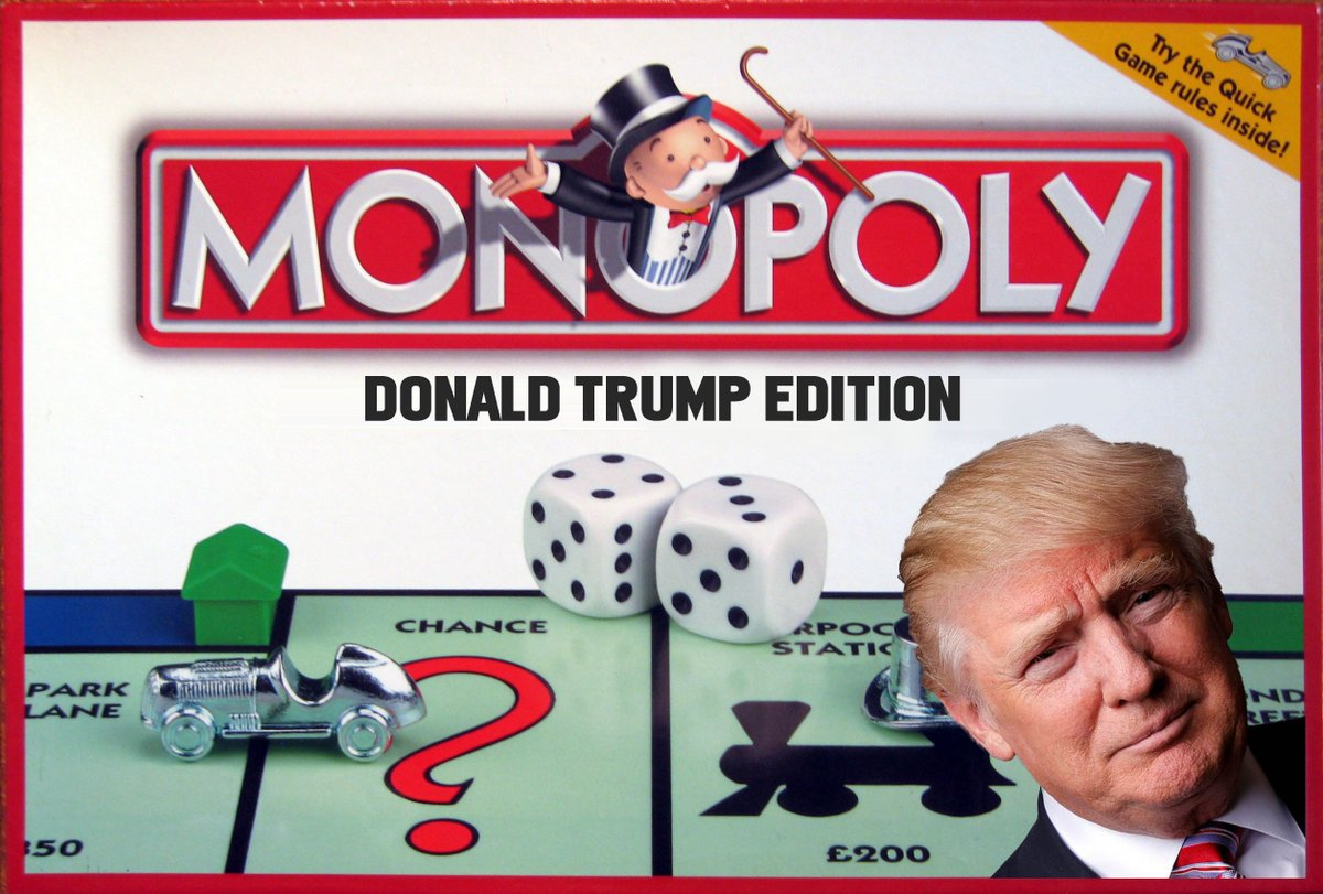 """This version of """"Donald Trump Monopoly"""" looks fun to play ..."""