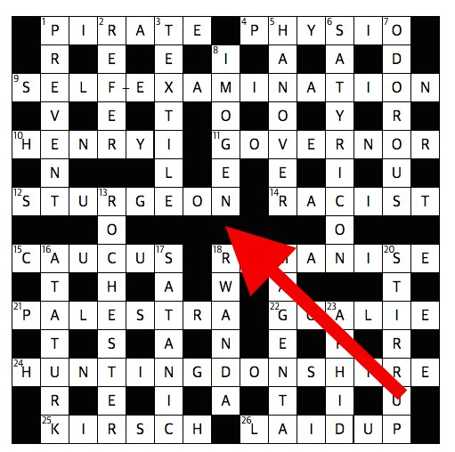 hidden clues guardian s cryptic crossword accused of anti