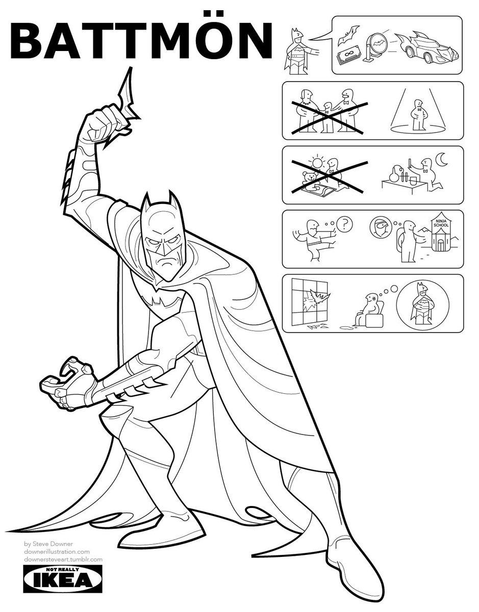 Ikea Instruction Manuals Superhero Origin Stories As Ikea Instruction Manuals The Poke