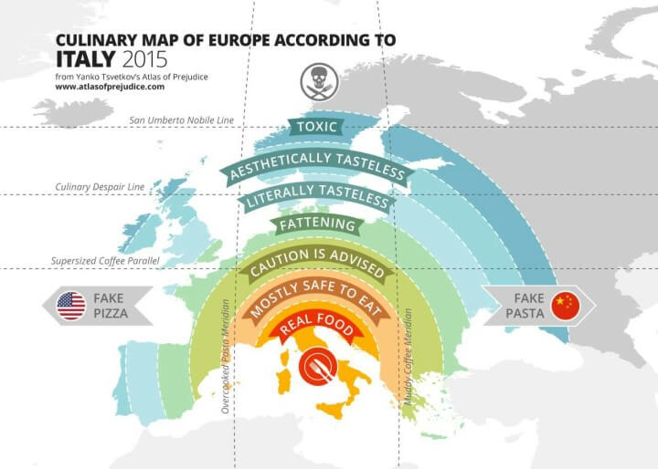 UK food is 4 stages of tragic on this culinary map of Europe