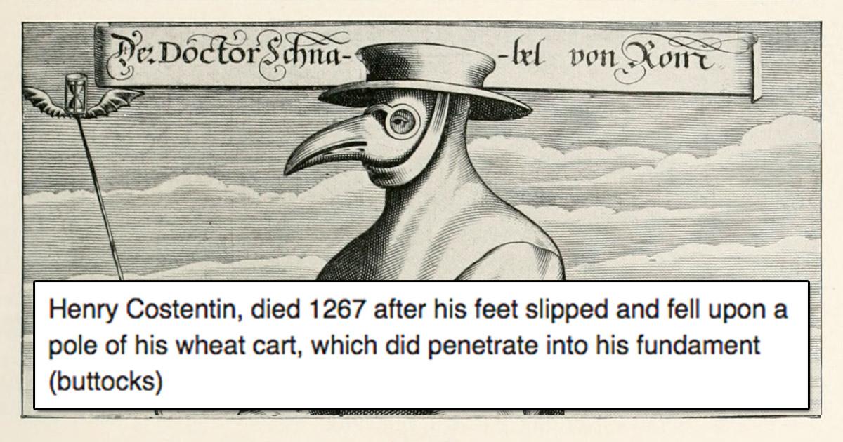 Medieval Death Bot Is Posting How People In Medieval England Died