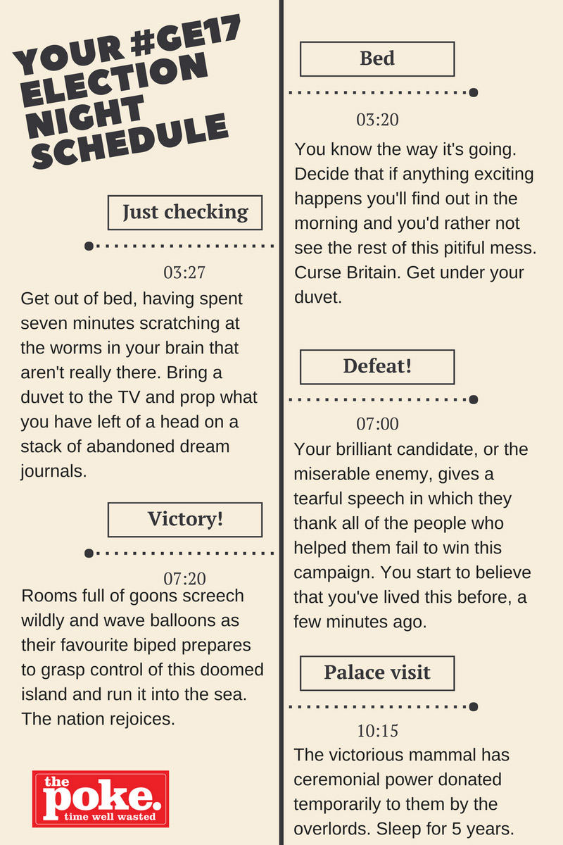 Your 2017 General Election night schedule The Poke