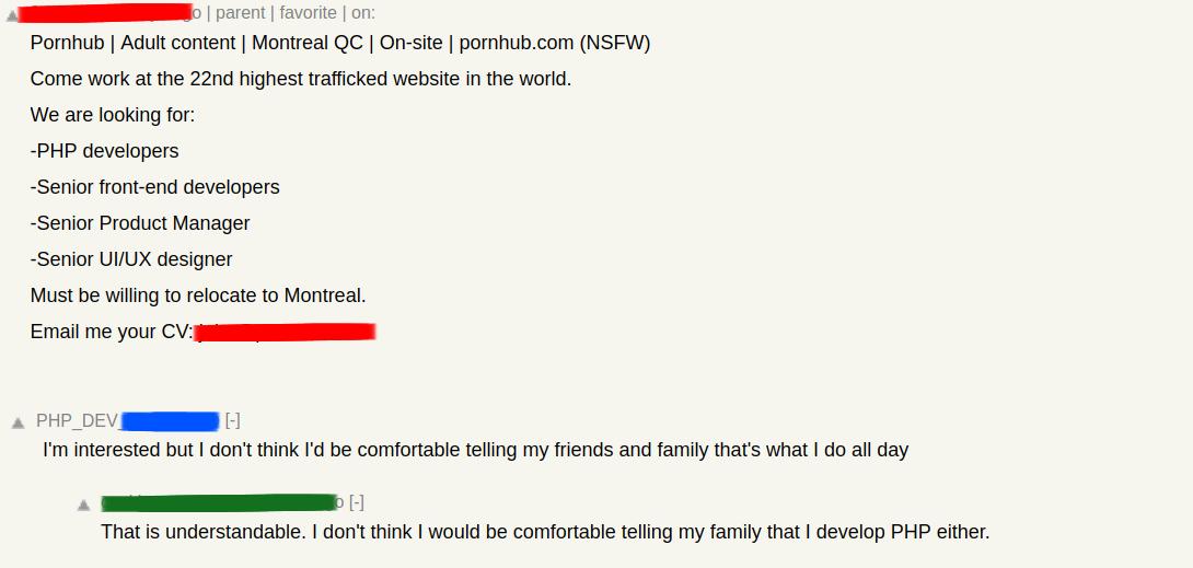 this reply to a pornhub job listing will make you go  u0026quot yep