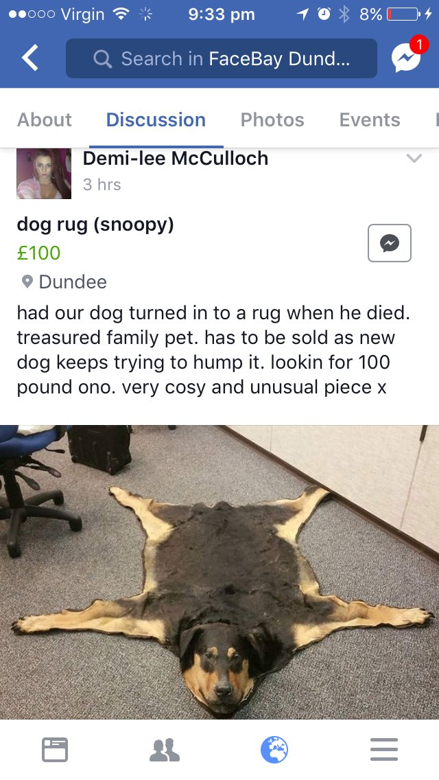 Someone Has Turned Their Dead Family Dog Into A Rug And Is