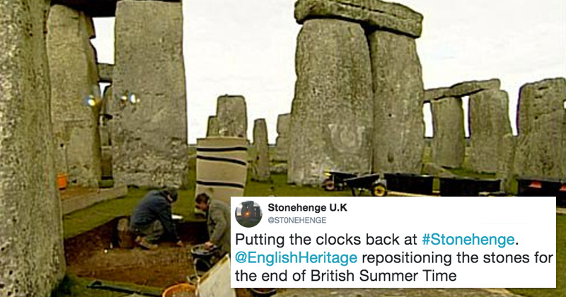 How Stonehenge deals with the end of British Summer Time ...