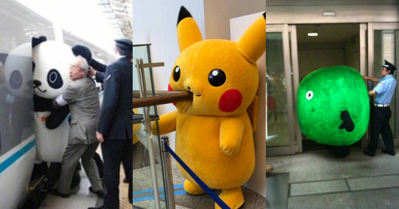 17 Japanese Mascots Getting Stuck In Things The Poke