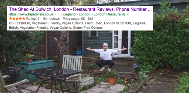 How a man tricked tripadvisor into making his garden shed for Garden shed tripadvisor