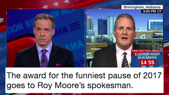 Funniest stunned silence you will see (and hear) all year. Just brilliant