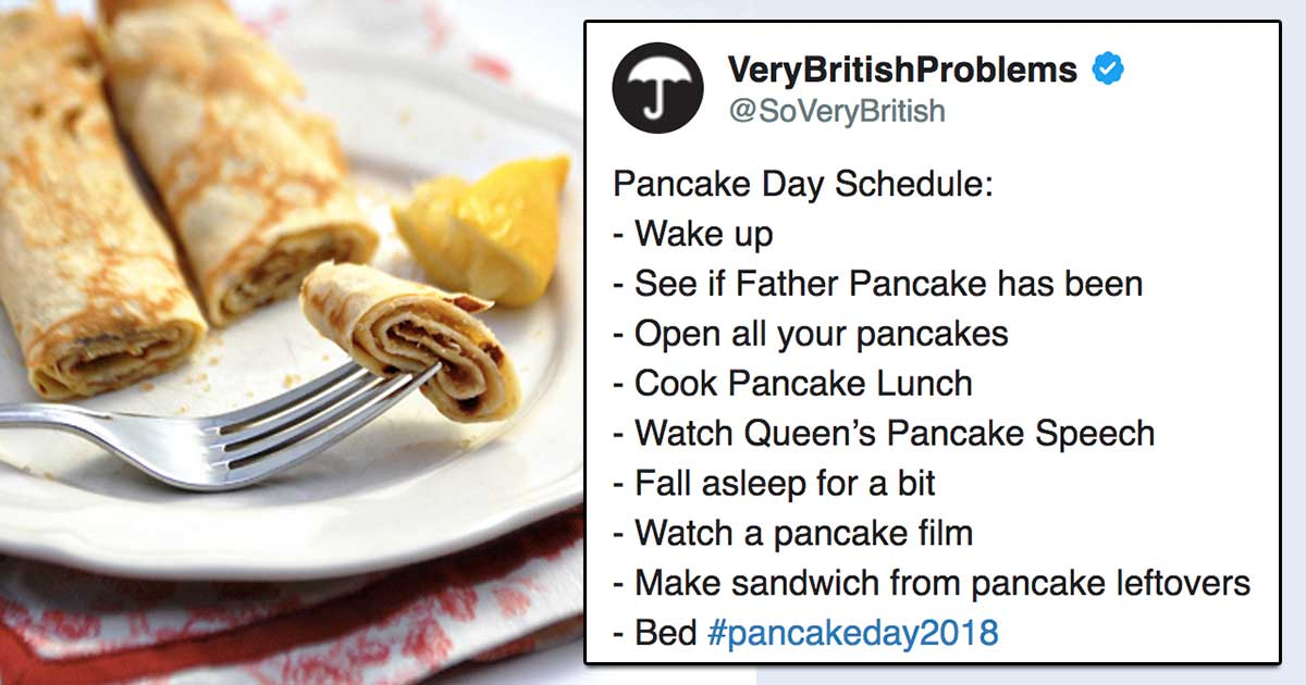 "The only 9 funny tweets that YOU need to read about ""Pancake Day"""