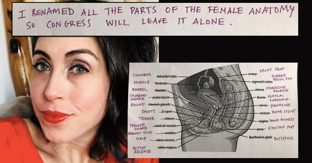 This woman has renamed all the part of the female anatomy after guns ...