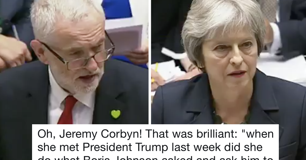 Jeremy Corbyn just totally owned Theresa May at PMQs and her face is an absolute picture