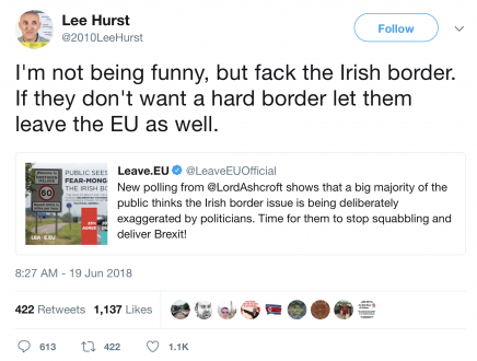 Lee Hurst said this about Brexit and the replies could make