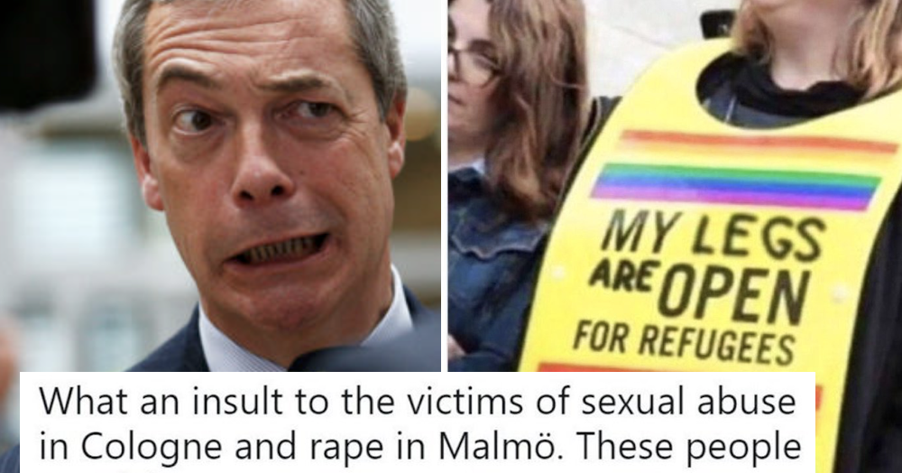 Nigel Farage shared an obviously faked far right photo and the responses are all you'd hope for