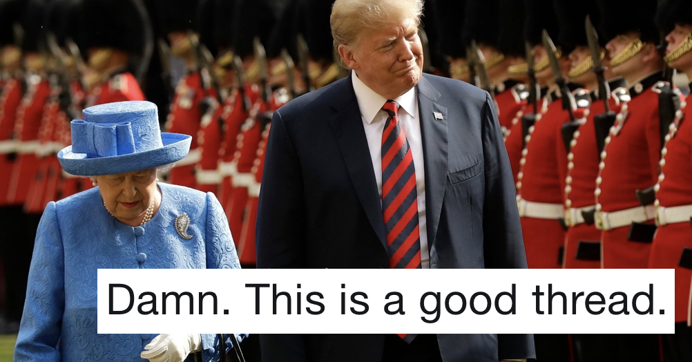 The Queen trolled Donald Trump with her brooch and it's the best thing you'll read today