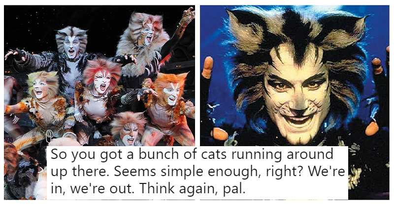 This hilarious thread explaining the plot of Cats is as