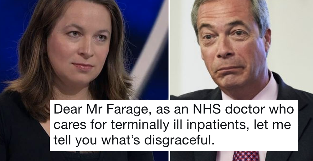 This doctor's takedown of Nigel Farage is blistering stuff