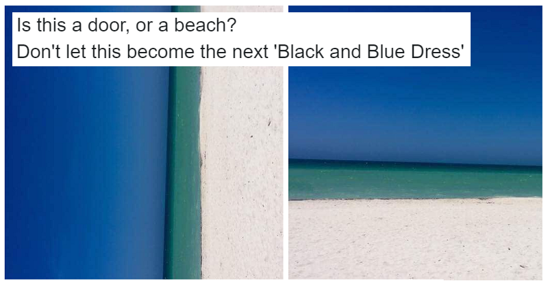 The Quot Door Or Beach Quot Optical Illusion Has Got The Internet