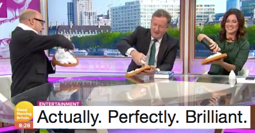 Harry Hill had the last word in Piers Morgan's 'papoose' debate and he really enjoyed it