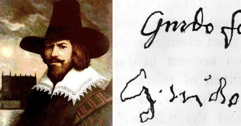 Its Bonfire Night So Heres Guy Fawkes Signature Before