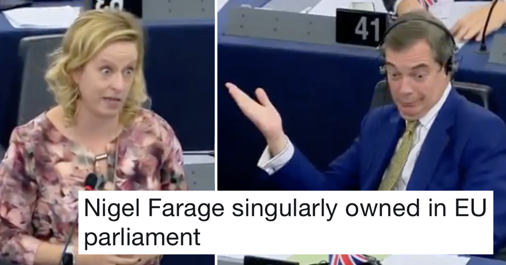 Nigel Farage was brutally owned by this Dutch MEP and it's a joy to watch
