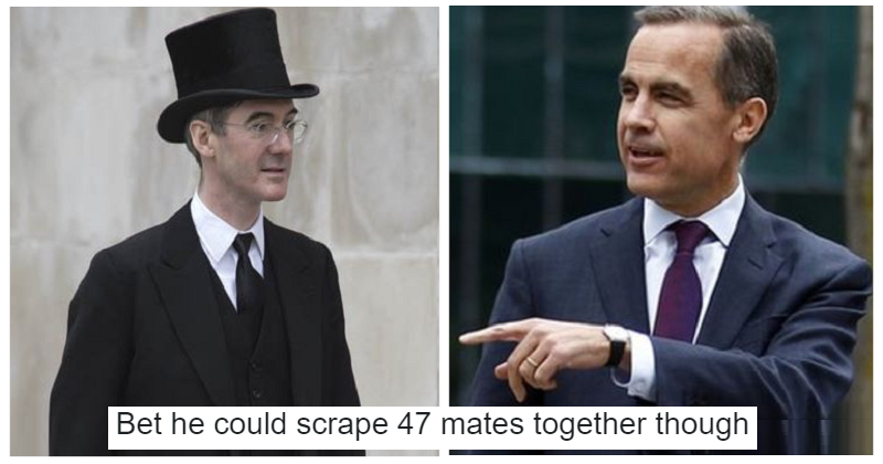 Jacob Rees-Mogg had a dig at the Governor of the Bank of