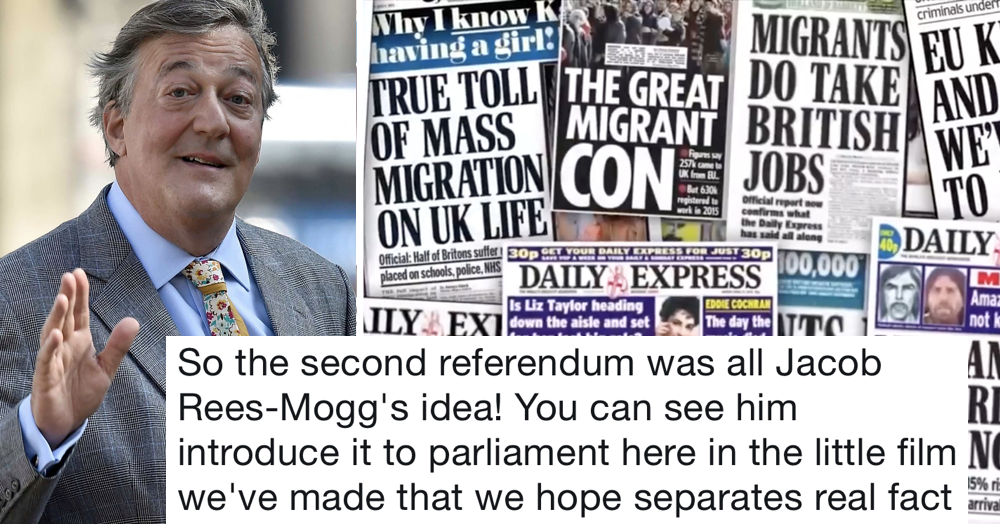Stephen Fry's made a video busting the myths behind Brexit and he totally nails it
