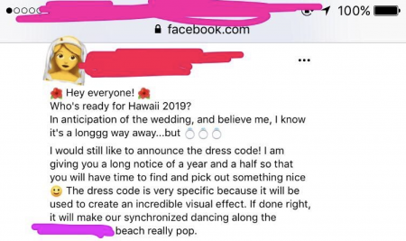 Wedding Dress Codes.This Bride Sent Out A Wedding Dress Code Based On Guests Weight And