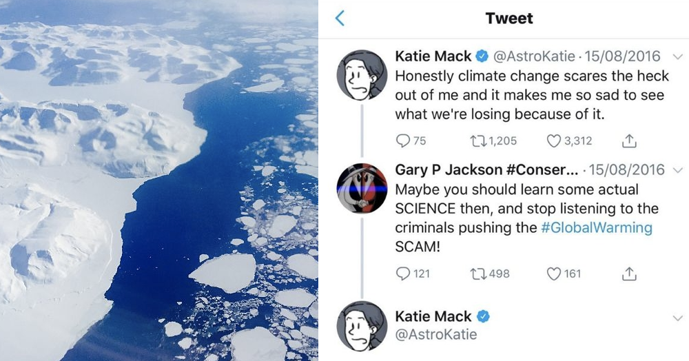 This woman's takedown of a guy who tried to mansplain climate change was just brutal